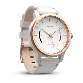 vivomove classic- Black & rose gold tone with leather band