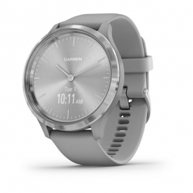Vivomove 3 Silver stainless steel bezel with powder grey case and silicone band