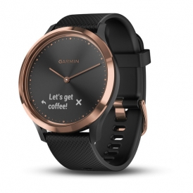 Vivo move HR Rose Gold with Black silicone Band