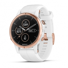 Fenix 5S Plus Rose Gold with White Band