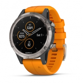 Fenix 5 Plus with Solar Flare Orange Band