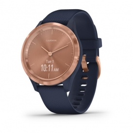 Vivomove 3S Rose gold stainless steel bezel with navy case and silicone band