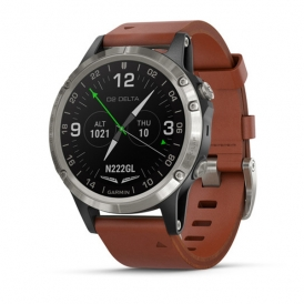 D2 Delta Aviator Watch with Brown Leather Band