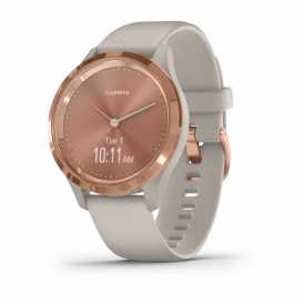 Vivomove 3S Rose gold stainless steel bezel with light sand case and silicone band