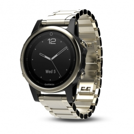Fenix 5s Champagne Sapphire with Metal Band