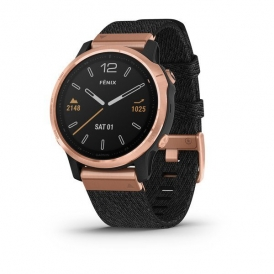 Fenix 6S Pro and sapphire edition Rose Gold tone with Heathered Black Nylon Band