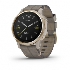 Fenix 6S Pro and sapphire edition Light Gold tone with Shale Gray Leather Band