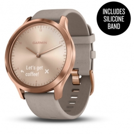 vivo move HR Rose Gold withGray suede Band