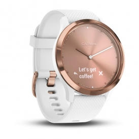Vivo move HR rose gold tone with white silicone band